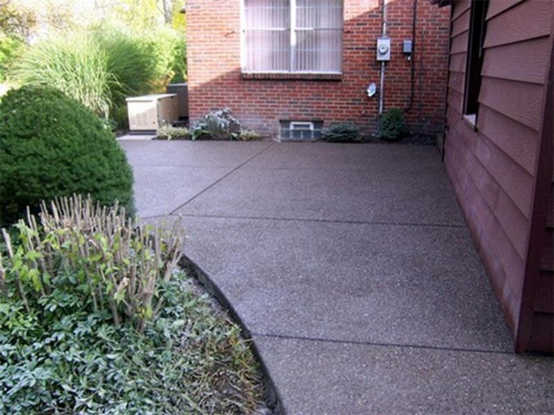 Exposed Aggregate Patio And Walkways.
