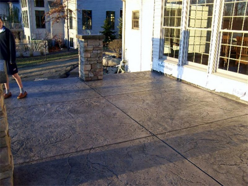Perfect Upper Granite Stamped Terrace