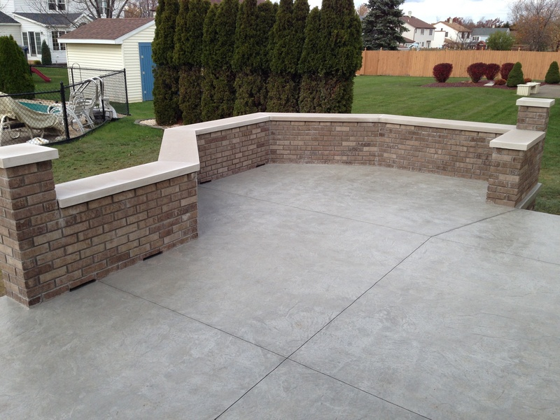 Marvelous West Seneca. Raised Stamped Concrete Patio With Decorative Brick ...